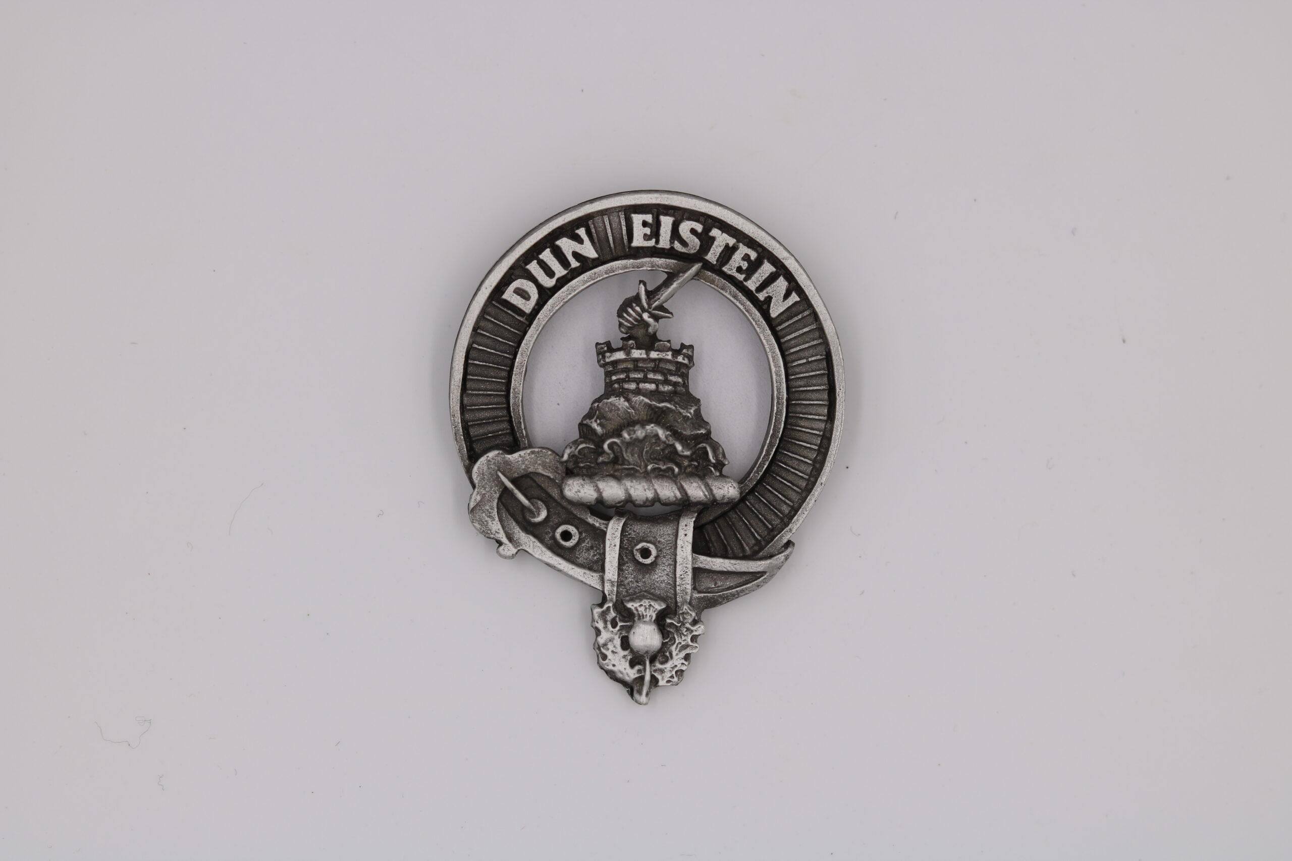 Morrison Scottish Clan Crest Pewter Badge or Kilt Pin